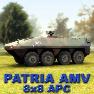 3D Patria Amv - 3D Model