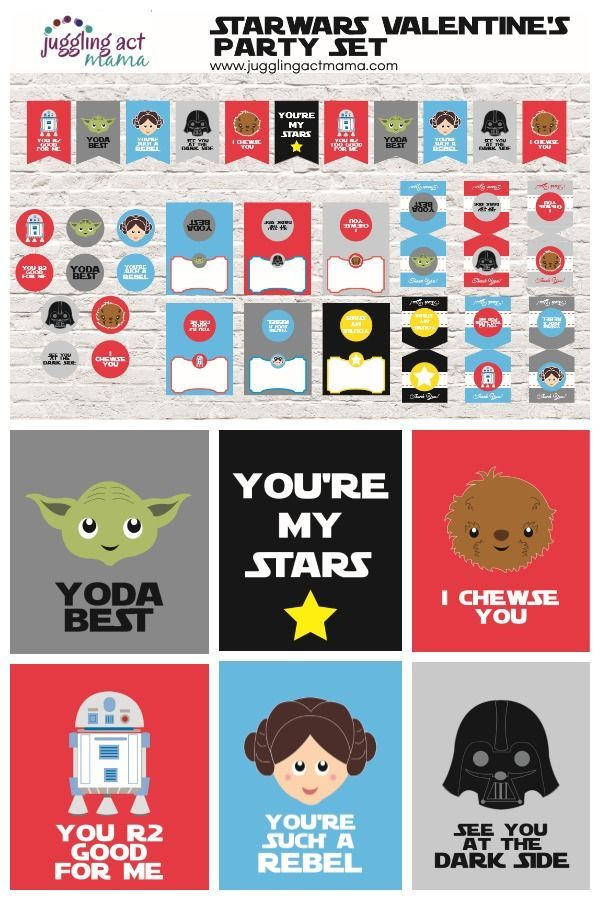 Star Wars Valentine and Party Printables