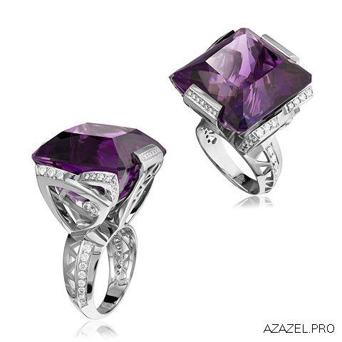 Перстень с Аметистом и Алмазами Ring with Amethyst and Diamonds  #ring #аметист #amethyst #ювелир #алмаз #diamond #перстень #кольцо #красота #камень #мода #стиль #fashion #woman #stone #style #jewelry #bijouterie #jewellery #podium #gemstone #exclusive #russia #украшения #best #эксклюзив #россия #супер #best #дизайн