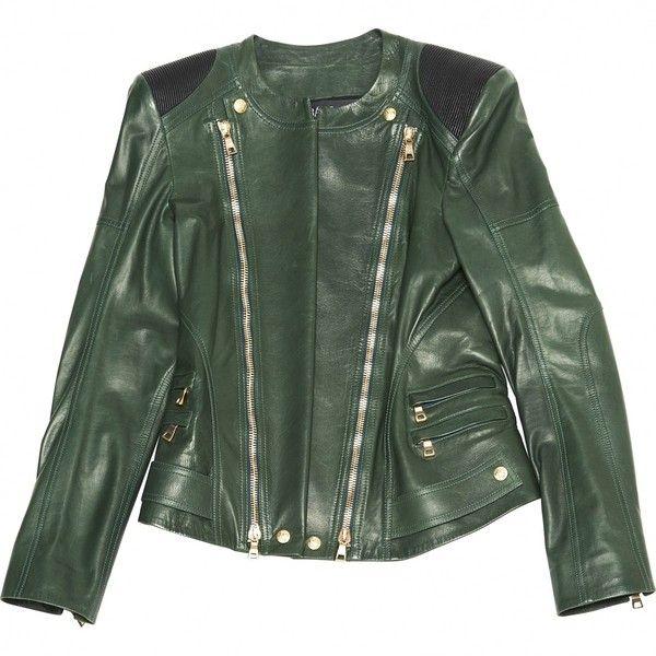 Best 25  Green leather jackets ideas on Pinterest   Leather look ...