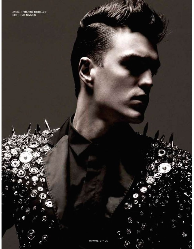 Josh Beech shot by Marco Falcetta and styled by Manos Samartzis for the June 2012 issue of Homme Style.