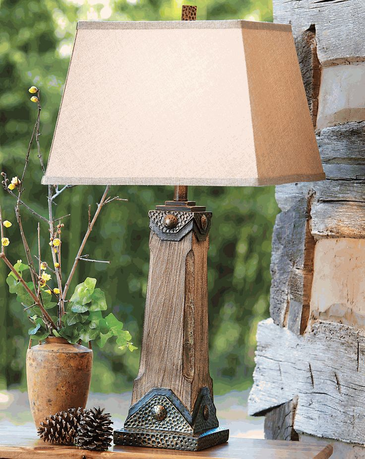 39 Best Images About Rustic Table Lamps On Pinterest