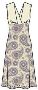 Выкройка трикотажного платья без рукавов