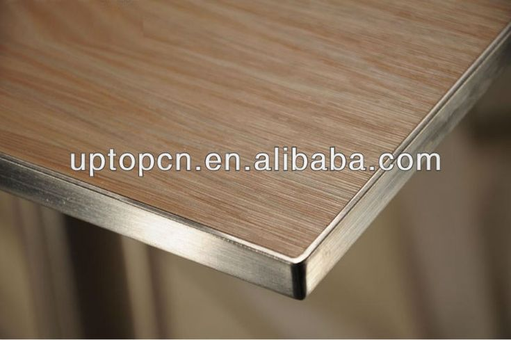 High grade laminate table top with stainless steel edge restaurant table…