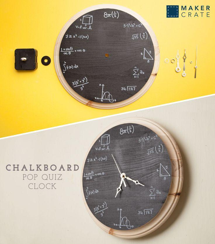 Chalkboard Pop Quiz Clock 161 best DIY