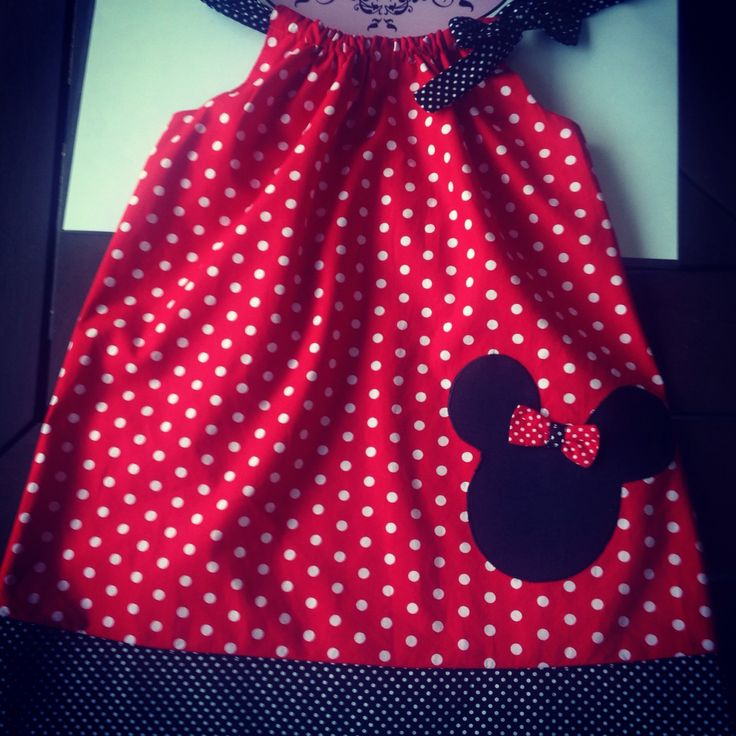 Gorgeous mini mouse pillowcase dress made by Zaylie_Co