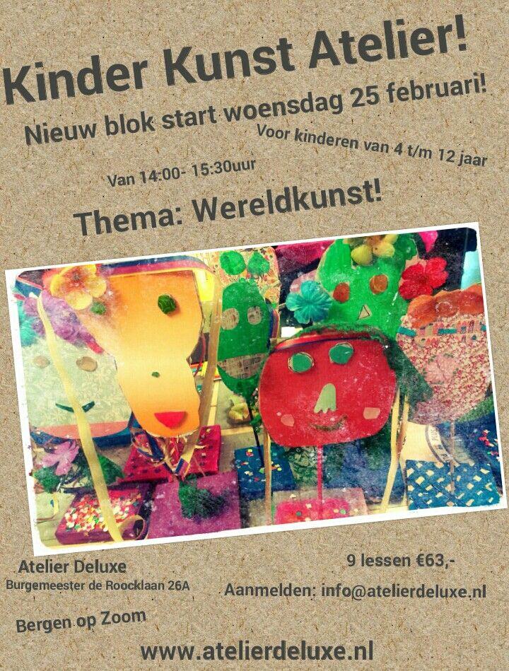 Kinder Kunst Atelier bij ons in het atelier in Bergen op Zoom!