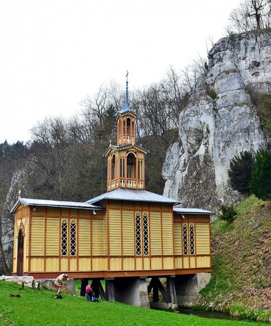 Zdjęcia: Dolina Prądnika, Małopolska, Kaplica na Wodzie, POLSKA