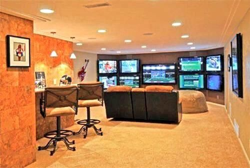 Man Cave Ideas Football : Football watching man cave pinterest