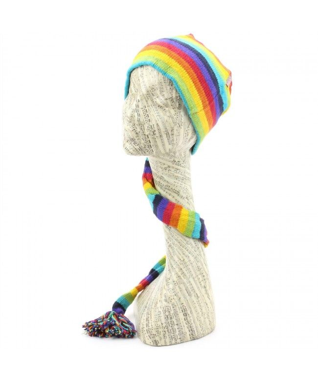 LOUDelephant 'Tinky Winky' cotton knit tail hat - Rainbow (One Size)