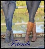Friends in cowboy boots