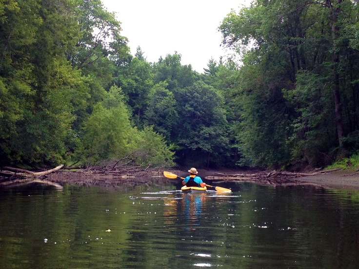 Paddling our kayaks down fish creek between saratoga and for Saratoga lake fishing