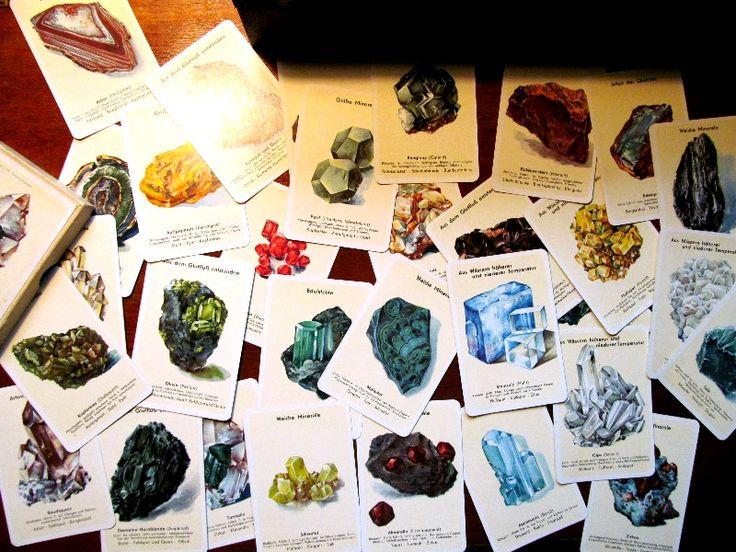 Vintage mineral card