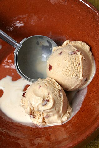 Candied Bacon Ice Cream NOTES: Need a rack for cooking the bacon so that you can dredge it through brown sugar and so that it doesn't burn. More brown sugar. More than 6 slices of bacon, of highest quality.