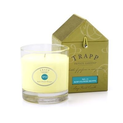 Luxury Candle Brands - No. 13 Trapp Candles Bob's Flower Shoppe - 7oz Candle, $24.00 (http://luxurycandlebrands.com/no-13-trapp-candles-bobs-flower-shoppe-7oz-candle/)
