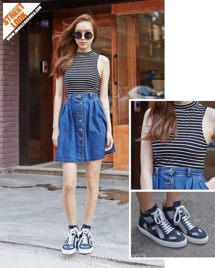 2014.07.21 배지인 (24세 | 모델 | 신사동) 셔츠 Forever21 | 신발 MM6