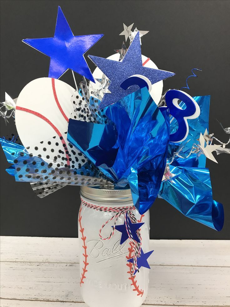 Image result for baseball themed balloon centerpieces