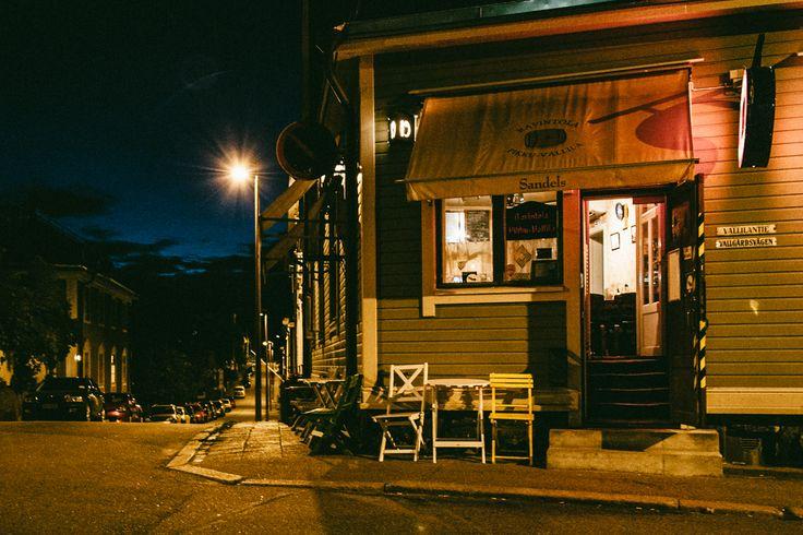 Local bar at Vallilantie, Helsinki Finland