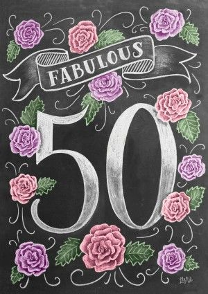 Fabulous 50th Birthday Card by Lily & Val. And if you want you can include a video!