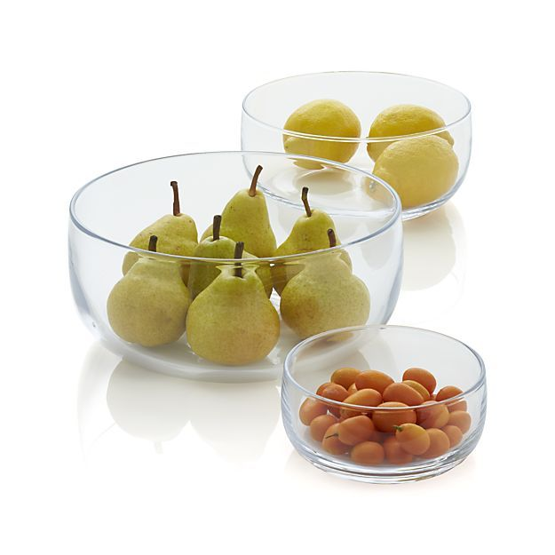 Ollie Medium Glass Bowl | Crate and Barrel