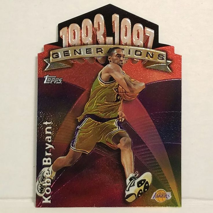 Kobe Bryant Basketball Card 1997-98 Topps Generations G24 Los Angeles Lakers HOF #LosAngelesLakers #forsale #kobebryant #basketballcard #Topps #LosAngelesLakers #LALakers #Lakers #sportscard #cardcollector #NBA #HOF #kobe #vintagecard #rare http://ow.ly/twTX309X9mB