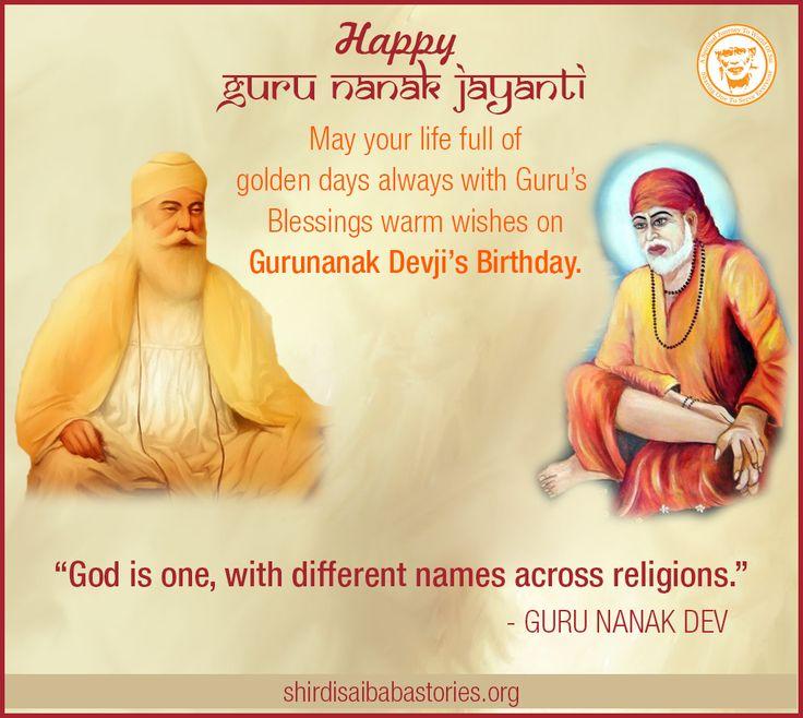 Shri Guru Nanak Jayanti Wallpaper Free Download - Shirdi Sai Baba Life Teachings and Stories