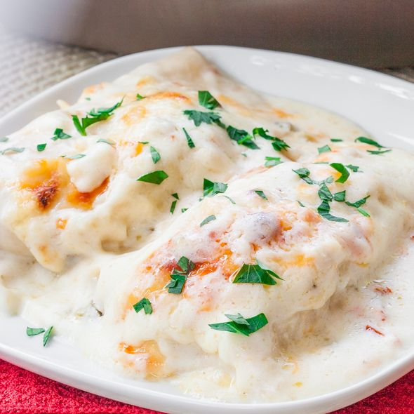 White Chicken Enchiladas | Recipe | Chicken Enchiladas, Enchiladas and ...
