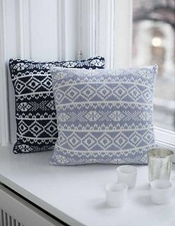 This is a great way to try a fairisle pattern if you have not tried this style of knitting before. As a cushion has no shaping you can concentrate on the pattern alone. Also the back is much simpler!
