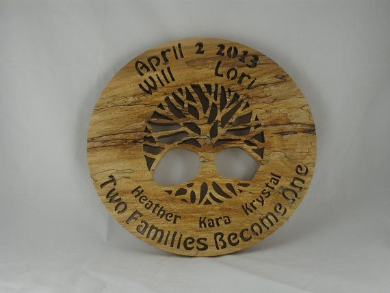 """Family Tree Wedding Gift: Marriage Family Tree Wedding Gift """"Two Families Become One"""