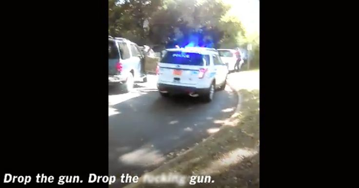 """FOOTAGE RELEASED OF KEITH LAMONT SCOTT SHOOTING Officers demanded Scott """"drop the gun"""" at least 10 times"""