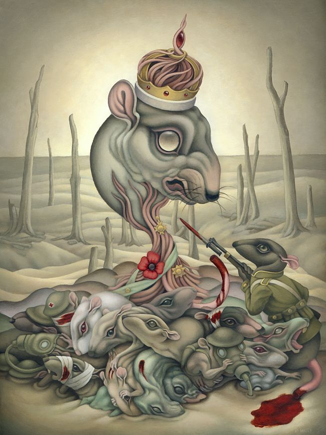 """""""The Rat King"""" by Heather Watts.    Can anything be more ridiculous than that a man has a right to kill me because he lives on the other side of the water, and because his ruler has quarrel with mine, although I have none with him?  ~Blaise Pascal"""
