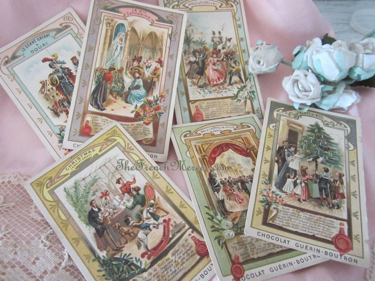 Antique French Chocolate Box Swap Cards The French Mercer