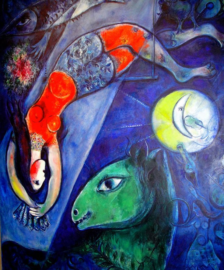 """https://flic.kr/p/bjvfvf   Blue Circus by Marc Chagall   """"For me, a circus is a magic show that appears and disappears like a world. A circus is disturbing. It is profound.""""  Marc Chagall.  www.ago.net/blue-circus"""