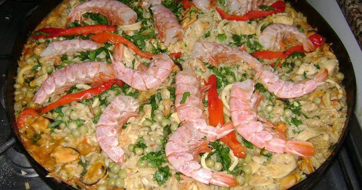 Fabulosa receta para Paella al disco de arado. Infaltable plato para los que gustan de los frutos del mar.