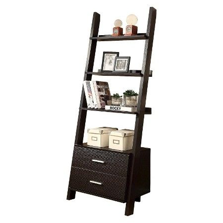 Monarch Specialties Ladder Bookcase with Drawers... : Target