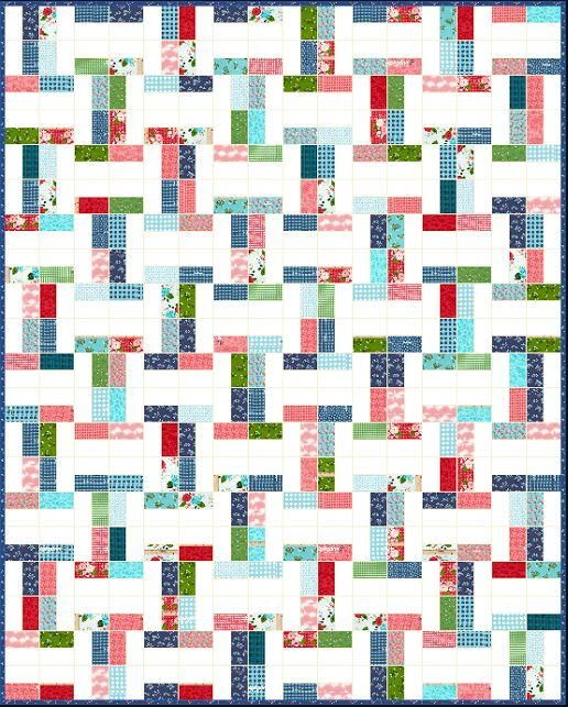 Betsy Jelly Roll Quilt Pattern | Looking for the perfect spring quilt? Then don't miss this free jelly roll pattern!