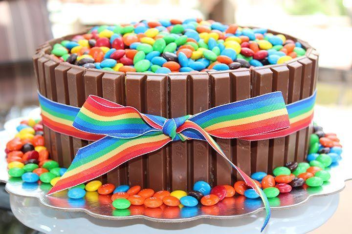Teen Birthday Cake Ideas-Kitkat Cake                                                                                                                                                                                 More