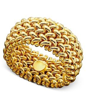 14k Gold Ring, Mesh Band