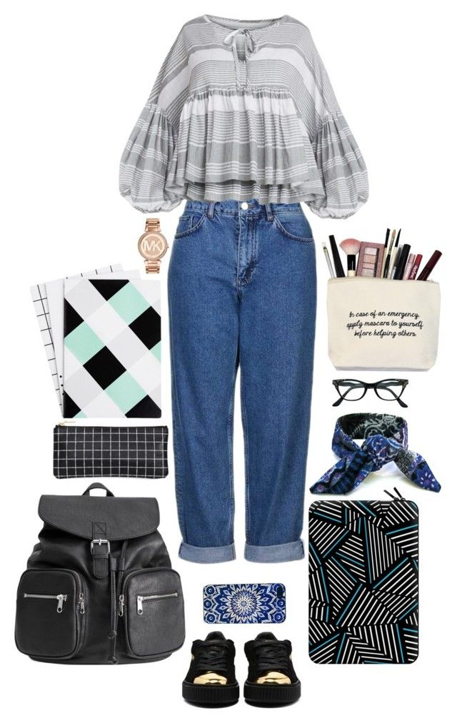 """Back to Reality"" by angeleshiny on Polyvore featuring Topshop, Casetify and Michael Kors"