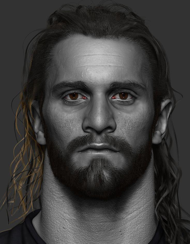 Seth Rollins sculpt I did for WWE, hope you like it, cheers. https://www.instagram.com/hossein.diba https://www.facebook.com/TheArtofHosseinDiba
