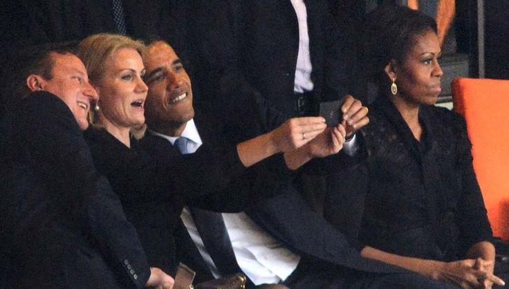 Barack Obama insieme a David Cameron e a Helle Thoring Schmidt