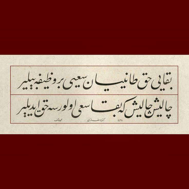 Bekâyı hak tanıyan sa'y'i bir vazîfe bilir. Çalış, çalış ki bekâ sa'y olursa hak edilir. Mehmed Akif