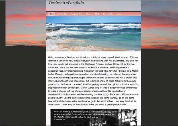 Gallit Zvi blogs about her students' e-portfolio journey