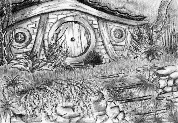 maison hobbit dessin facile - Recherche Google   Dessins ...