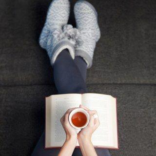 Tee trinken und Füße hoch legen.