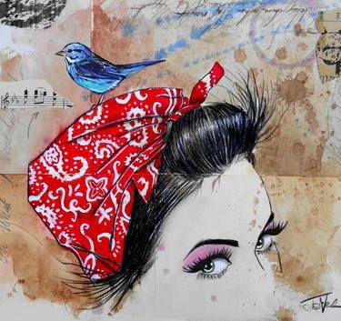 "Saatchi Art Artist Loui Jover; Drawing, ""never sure when..."" #art"