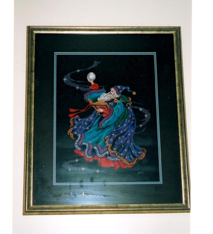 Celestial Wizard - counted cross stitch.