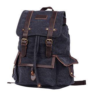 Рюкзак брезентовый Polar П3303 черный