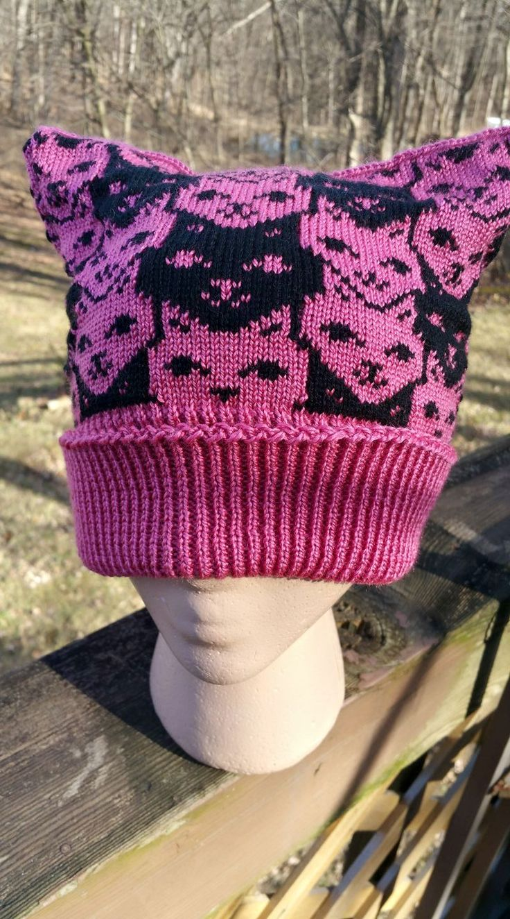 574 best knitted hats images on pinterest autumn style brioche a pussy hat of tesselated kitties img2track knit hat patternsfair bankloansurffo Image collections