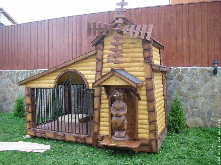 Купить Будка вольер для собаки - будка, вольеры, собаки, вольеры для собаки, будки для собак, дерево